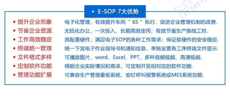 E-SOP作业指导书软件优势介绍