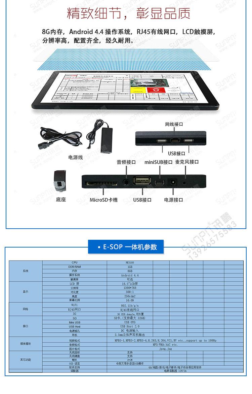 E-SOP作业指导书软件细节展示