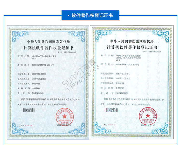E-SOP作业指导书软件登记证书